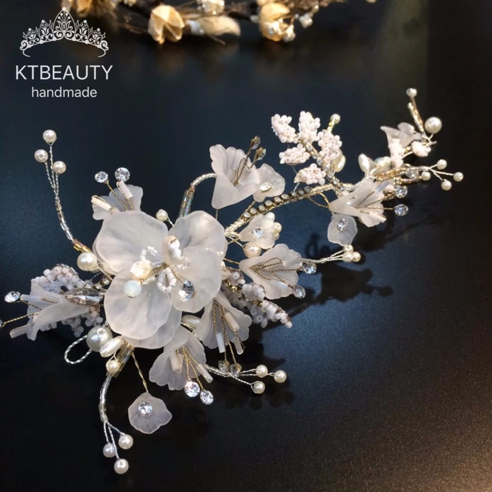 Nouveau luxe cristal fleurs bandeau de mariée magnifique mariée épingle à cheveux bijoux Royal mariée mariage cheveux accessoires femmes bijoux