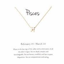 139ee38d3800 1 unid unidad Zodiaco constelación Piscis señales collares para mujer 12  constelación colgante collar joyería para Mujeres Hombr.