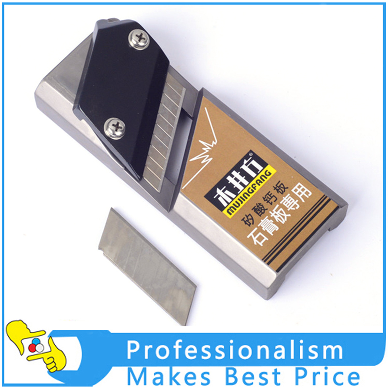 1PC Plane Chamfering Planing Woodworking Plane Trim Tools Wood Gypsum Board Fiberboard Edge Plane Renovation Tools hand plane plasterboard gypsum board edge planer planing chamfer jointer plane drywall chamfering bevel trimmer cutter