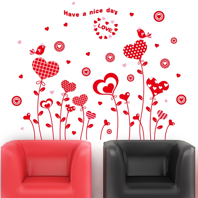 wall stickers wedding room layout bedroom wallpaperation TV ...