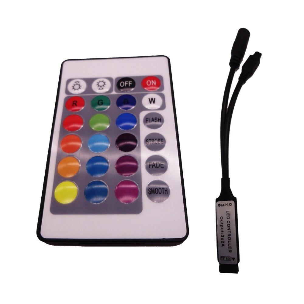 Mini portable 3 V bouton (2025) batterie-alimenté 24-clé à distance infrarouge télécommande RGB lumière bar contrôleur kit (pas de piles)