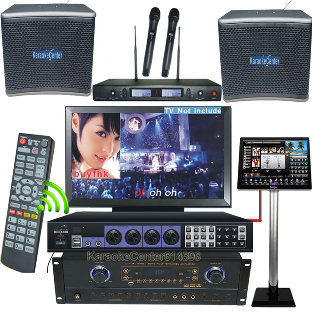Complete Karaoke System Touch Screen Amplifier Mixer Speaker