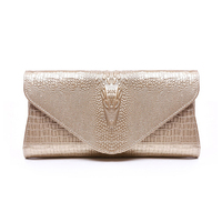 CHICHI Luxury Women Evening Clutch Bags 2016 Gold White For Wedding Genuine Leather Purses Handbags Ladies