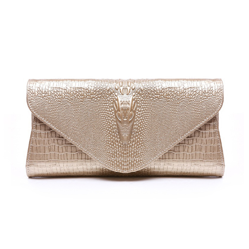 Luxury Women Evening Clutch Bags 2016 Gold Bag White For Wedding Genuine Leather Handbags Purse Ladies Envelope Clutch Crossbody bags for women 2017 ladies cheap handbags crocodile silver clutch envelope evening purse leather shoulder woman clutch hand bag