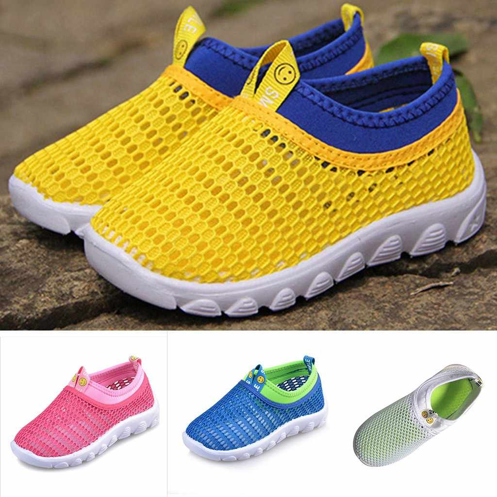 Toddler Children Boys Kids Shoes For Girl Boys Baby Girl Kids Sneakers Fashion Sport Breathable Mesh Shoes Kids Trainers 2019