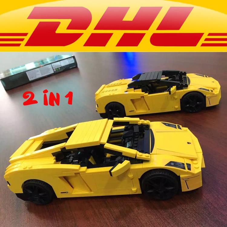 Yile 011 Gallardo LP 560-4 Bloques de construcción 1069 ladrillos técnicos 8169 figuras de acción pegatinas coche vehículo juguetes para niños