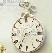 032184 Free shipping  wall clock  Cupid clocks  resin crafts gifts home decoration angel