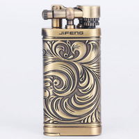 Manual pure copper pipe lighter, metal gas lighter, Household Merchandises,Lighters & Smoking Accessories