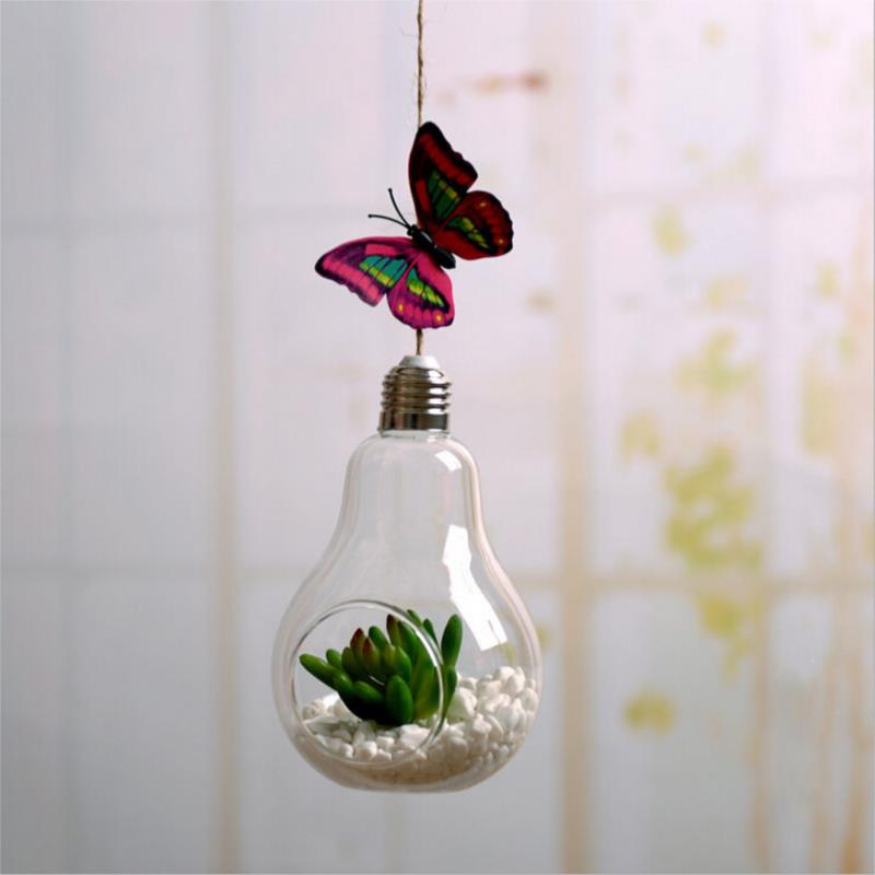 Free Shipping Hanging Glass Balls Bubble Round Pots Flower Vases Terrarium  Candle Holder For Christmas Wedding