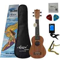 Aiersi Brand 21 Inch mahogany Soprano student beginner Ukulele Guitar Musical Instruments
