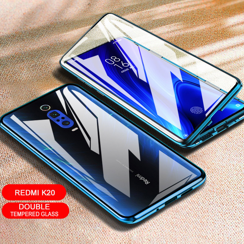 Image 5 - Magnetic Adsorption Case 360 for Xiaomi Redmi note 7 Tempered Glass Full Cover for Redmi K20 Pro Case transparent shockproof-in Fitted Cases from Cellphones & Telecommunications