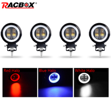 4 7D 3Inch Lens LED Work Light lamp Round Spotlights for Offroad UAZ 4X4 Truck Driving Boat Motorcycle ATV 12V 24V Car styling 4 3inch lms430hf22