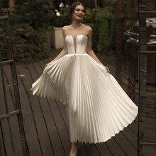 8fdd428de0a08 Zarif Sevgiliye Beyaz Dubai Akşam Resmi Elbise 2019 Fildişi Saten Uzun  Arapça Balo Abiye Kadın Pilili Plaj Parti Elbise. Yeni Gelenler