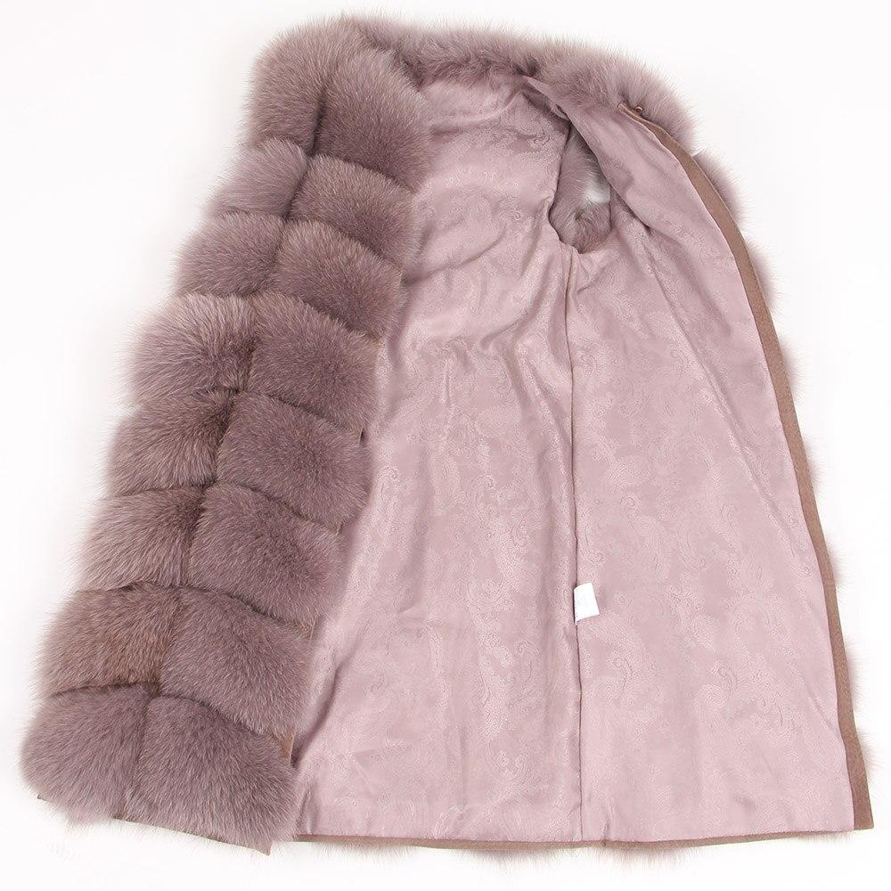 Image 3 - maomaokong 100% Fox Fur Vest Women Real Natural Whole Fox Fur Coat 90CM Long Winter Fur Jacket Waistcoat Plus Size 4XLReal Fur   -
