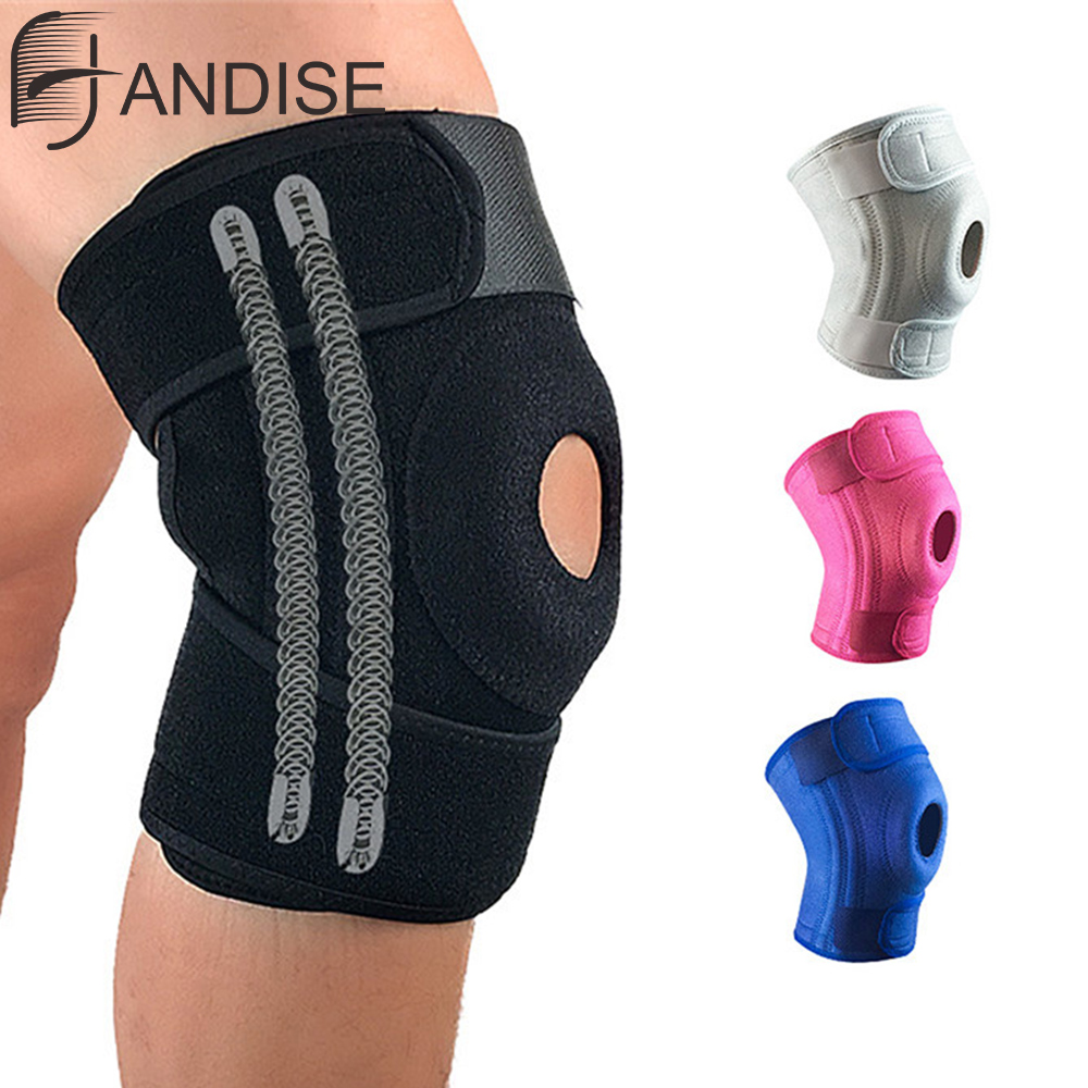 Adjustable Breathable Knee Brace Orthopedic Stabilizer Knee Pads Support Guard With Inner Flexible Hinge Sports Safety Joelheira