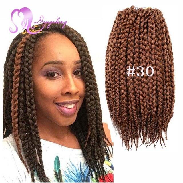 Synthetic Braids 3x Box Hair Two Tone Burgundy Havana Mambo Twist Crochet Braid