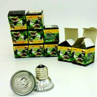 10 unids/lote UVA + UVB Sunning lámpara de calor 25 ~ 75 vatios bombilla, emite una luz de amplio espectro, con lámpara de base para Reptiles, anfibios