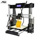 Reprap prusa i3 auto nível a8 a8 & normal tamanho grande 220*220*240mm Kit com Filamento Impressora 3D + 8G Cartão SD de Vídeo + Ferramentas