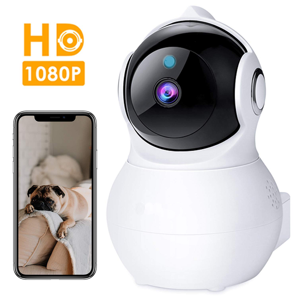 Kruiqi IP Camera Security Camera 1080P Pan/Tilt/Zoom Home Camera Baby Monitor with Night Vision Two-Way Audio Motion DetectionKruiqi IP Camera Security Camera 1080P Pan/Tilt/Zoom Home Camera Baby Monitor with Night Vision Two-Way Audio Motion Detection