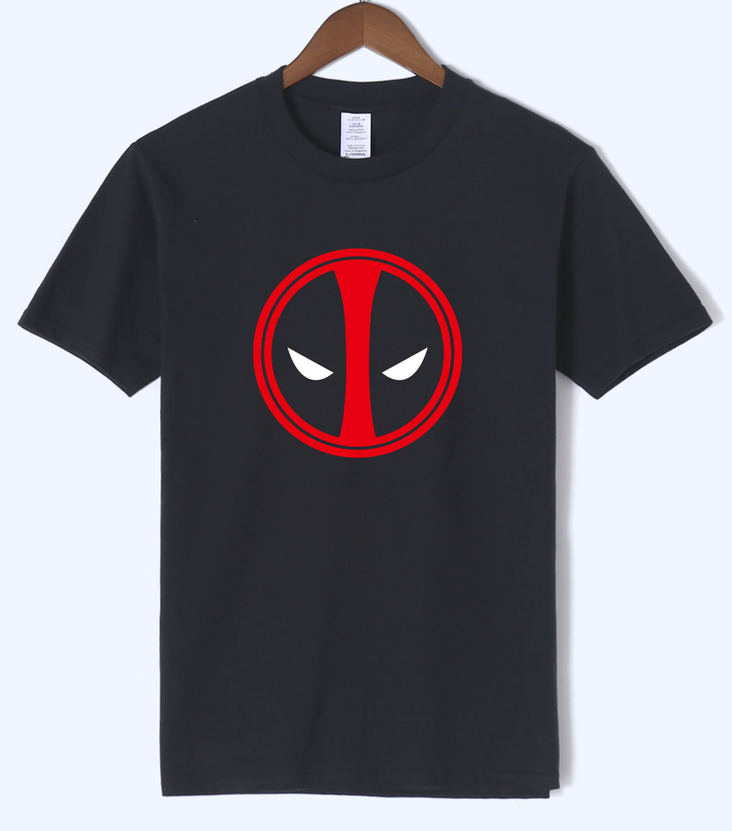 Loose Fit Deadpool Costume X-men T shirt 2018 Summer Superman Men T Shirts 100% Cotton Deadpool Short Sleeve O-neck Men T-Shirts