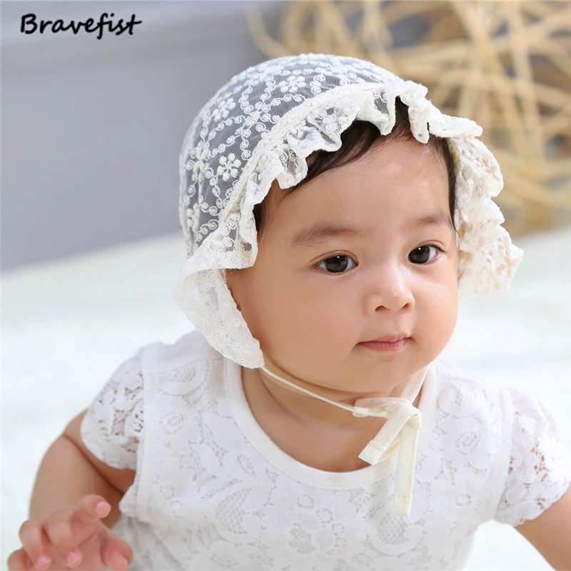 Color : White+Yellow Flower Pattern Infant Baby Girls Cotton Flower Princess Sun Cap Lovely Bowknot Bucket Hat
