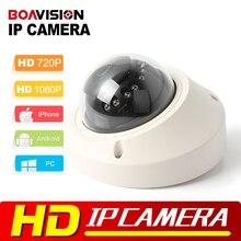 Onvif HD 1080 P Ip-камера Антивандаль 720 P В Режиме Реального времени Мини купольная Камера Видеонаблюдения 1MP/2MP Ночного Видения P2P Облако Android посмотреть