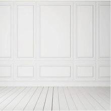 Mur en bois blanc pur fond Photo blanc Wainscot chaise Rail décors muraux personnalisé mariage toile de fond studio photo MR-1313