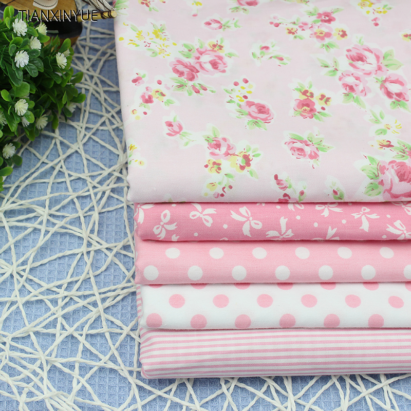 Flower fabric diy patchwork sewing kids bedding cotton for Cotton childrens fabric
