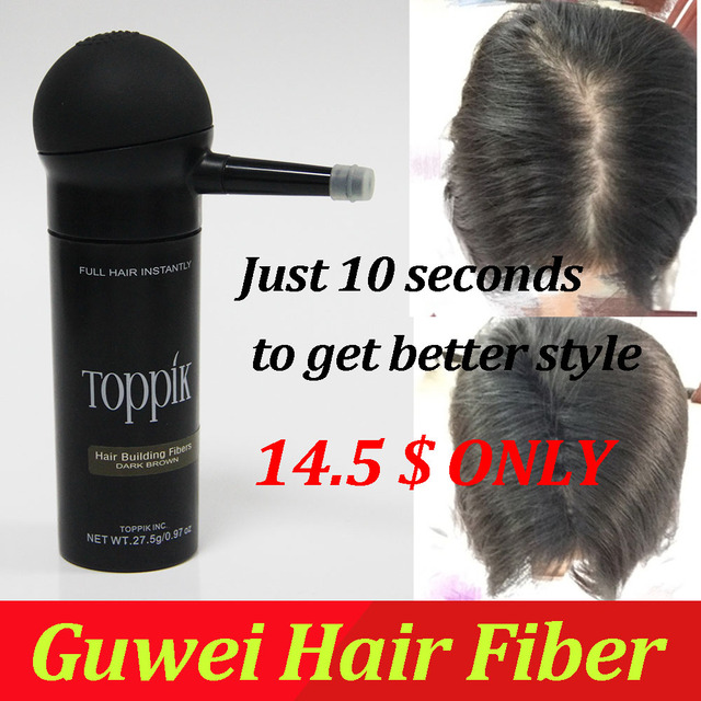 Toppik 27.5g hair thickening fibers hair treatment Cotton Hair Fiber best supplier China 9 color for choose