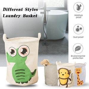 Image 2 - Práctica canastas de lavandería redonda con diseño geométrico, cesto de almacenamiento plegable, cesto para ropa de juguete, soporte plegable, organizador de rejilla gris, 1 unidad