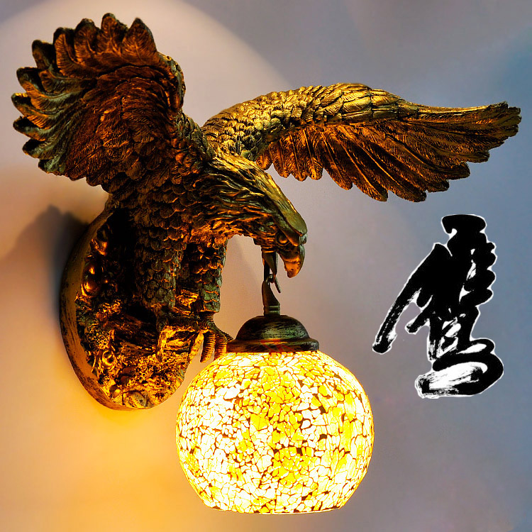 Tiffany Baroque vintage Stained Glass Iron Mermaid wall lamp indoor lighting bedside lamps wall lights for home AC 110V/220V E27 american vintage wall lamp indoor lighting bedside lamps wall lights for home diameter 22cm 110v 220v e27