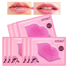 5Pack Crystal Collagen Lip Mask Pads Moisturizing Gel Patch Essence Hydrating Anti Ageing Wrinkle for Care