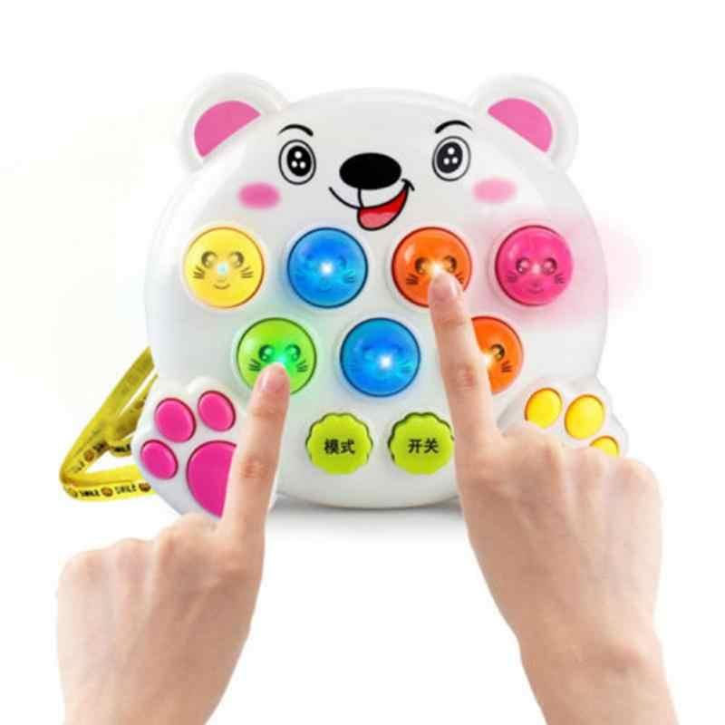 طفل أطفال ألعاب الموسيقى البلاستيكية اللعب ضرب ضرب الهامستر الحشرات لعبة اللعب دودة الفاكهة التعليمية musicais
