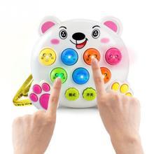 Dziecko dzieci plastikowe zabawki muzyczne zagraj w pukanie Hit chomik owad gra w owoce robak edukacyjne Instrumentos Musicais Toy