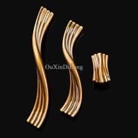 High Quality 10PCS European Pure Brass Kitchen Door Furniture Handle Cupboard Drawer Wardrobe Wine Cabinet Pulls
