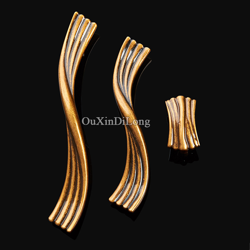 High Quality 10PCS European Pure Brass Kitchen Door Furniture Handle Cupboard Drawer Wardrobe Wine Cabinet Pulls Handles & Knobs high quality 10pcs european kitchen door furniture handles creative cupboard wardrobe drawer wine cabinet pulls handles