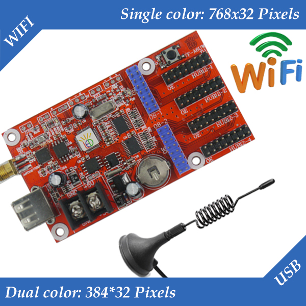 5pcs/lot TF-A6UW LED Display Control Card, WIFI + USB Communication Controller