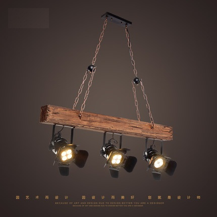 Loft Style Creative Wooden Droplight Industrial Vintage LED Pendant Light Fixtures Dining Room Hanging Lamp Indoor Lighting