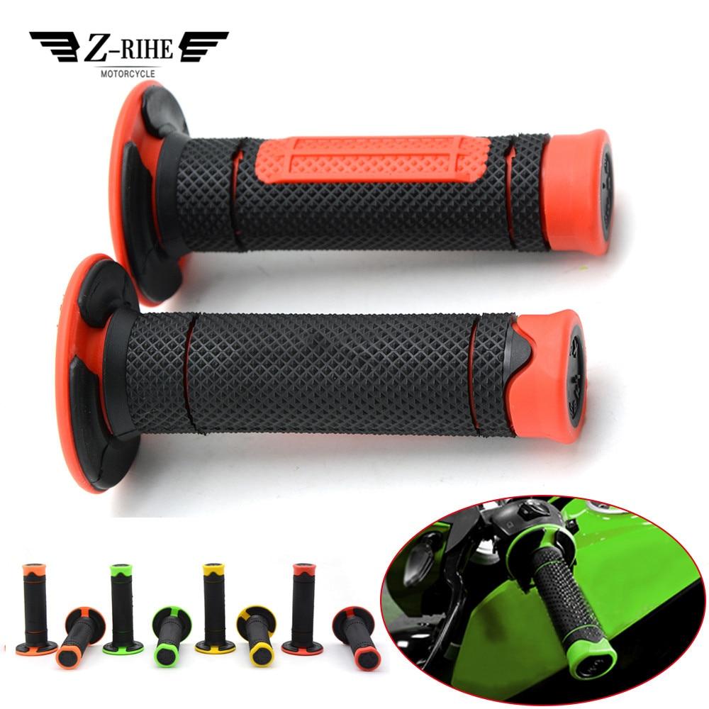 Motorcycle Handle Rubber Gel Bar Hand Grips Handlebar Grip Accessories For kawasaki GPZ500S EX 500R NINJA 650R ER6F ER6 W 800 SE