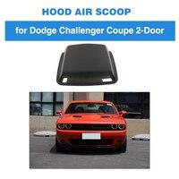 Углеродная заглушка из волокна капота автомобиля вентиляционные отверстия воздухозаборника Совок крышки для Dodge Challenger Coupe 2015 2019