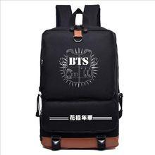 Free shipping  2017 NEW KPOP Bts bangtan boys jimin suga jhope nylon Fashion Schoolbag Backpack Satchel bag