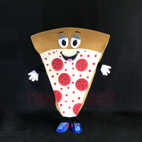 2017 Adult Pizza Mascot Costume Cosplay Funny Fancy Dress In Christmas Cool Costume Suit For Adults