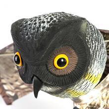 Prowler Owl with Moving Wing Garden Scarecrow Predator Decoy Pest