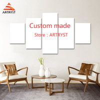 Artryst 5 Pcs Modular Custom Made Picture Home Room Decor Picture Canvas Paintings on Canvas Wall for Home Decor Wall Art