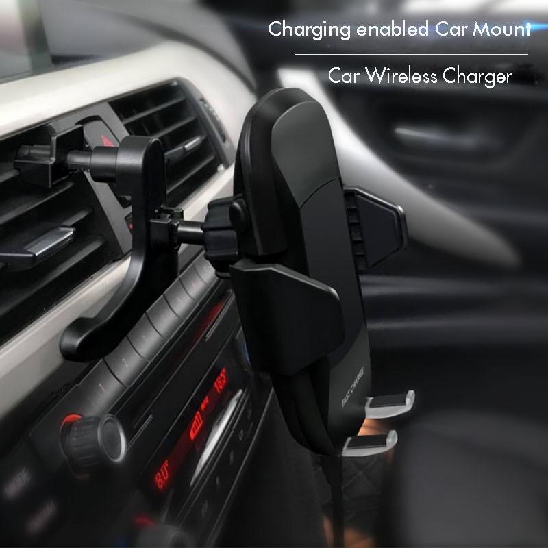 10 W Qi chargeur de voiture sans fil pour iPhone X Samsung Galaxy S9 S8 S10 Huawei mate 20 x mi 9 téléphone chargeur rapide support de voiture