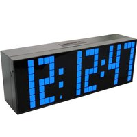 Electronic alarm clock digital led countdown timer temperature date display large numbers brightness adjustable desk wall clock
