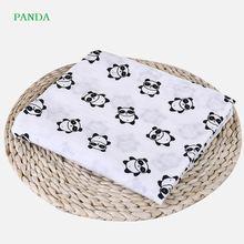 Одеяла из муслина для новорожденных детские мягкие хлопковые