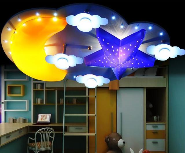 25 Creatieve Kinderkamers : Kinderen lamp kinderkamer plafondlamp creatieve ster maan