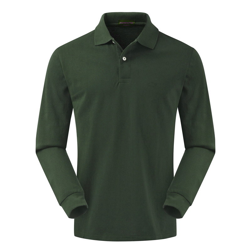 High quality 100% cotton 2018 autumn wear Paul long-sleeve   polo   shirt with full-length lapel top size