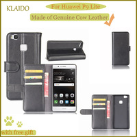 KLAIDO Genuine Cow Leather Mobile Phone Case For Huawei P9 Lite Phone Case Wallet Case For